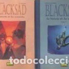 Cómics: BLACKSAD-LA HISTORIA DE LAS ACUARELAS- CANALES-GUARNIDO-2 TOMOS. Lote 210541710