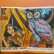 Cómics: AZUCENA. SERÉ EXCURSIONISTA. PUBLICACIÓN JUVENIL FEMENINA. Nº 1023 AÑO 1967. Lote 210820480