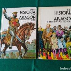Cómics: BREVE HISTORIA DE ARAGÓN VOLÚMENES I Y II - CÓMICS - COMPLETA - CAJA AHORROS INMACULADA 1984 Y 1985. Lote 222784661