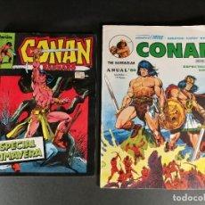 Comics : LOTE 2 ESPECIALES CONAN EL BARBARO ESPECIAL PRIMAVERA FORUM Y ANUAL 80 Nº 1 VERTICE MUNDI COMIC. Lote 224144832