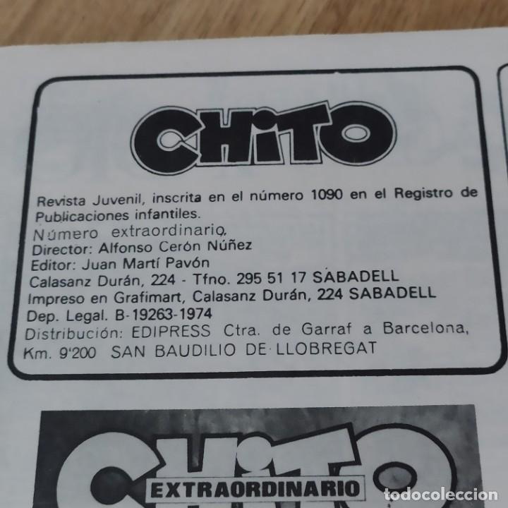 Cómics: ANTIGUA REVISTA JUVENIL NÚMERO EXTRAORDINARIO CHITO 1974 - Foto 2 - 234433025
