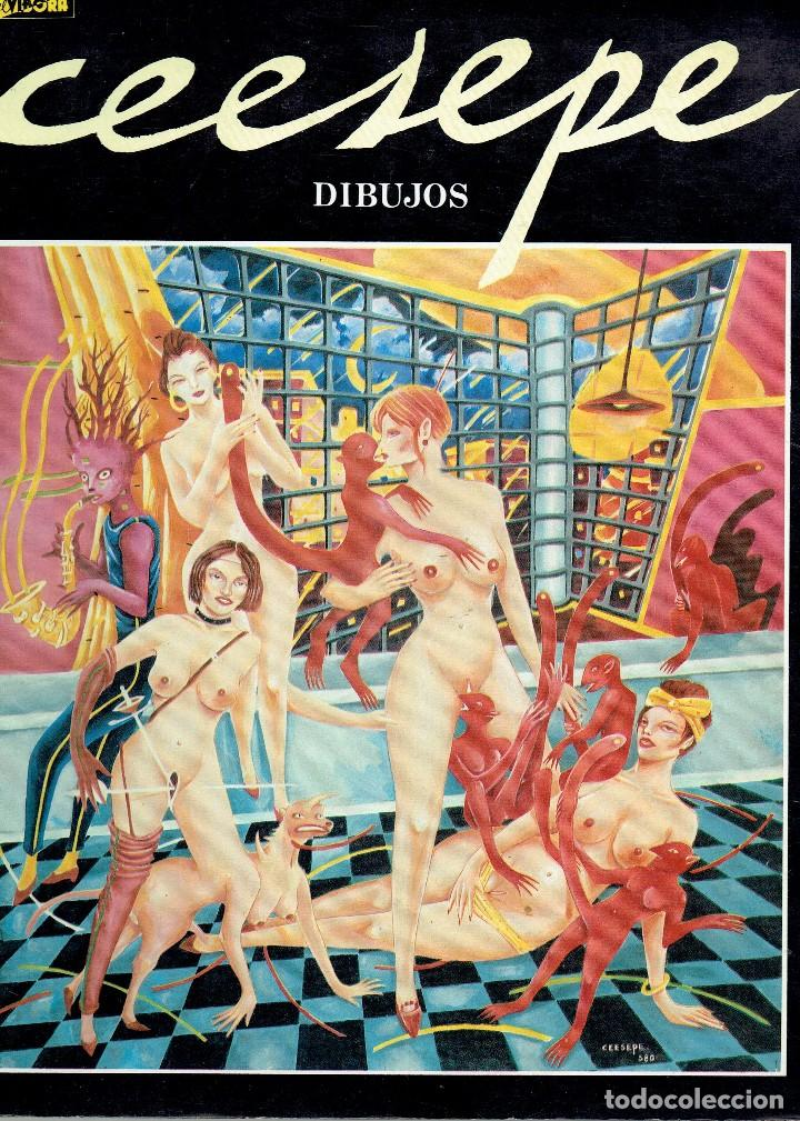 LIBRO DIBUJOS CEESEPE EL VIBORA 1982 @ MOVIDA / IMPECABLE ANTOLOGIA DE SU OBRA / COMO NUEVO (Tebeos y Comics - Comics Extras)