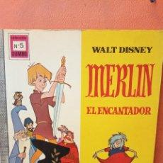 Comics: MERLÍN EL ENCANTADOR. WALT DISNEY. EDICIONES RECREATIVAS, S.A.. Lote 239365840