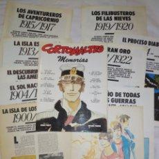 Comics : MEMORIAS. CORTO MALTÉS (HUGO PRATT) COLECCIÓN COMPLETA. Lote 245315195
