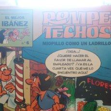 Cómics: ROMPE TECHOS. MIOPILLO COMO UN LADRILLO. Nº6. EL MEJOR IBAÑEZ. Lote 276660523