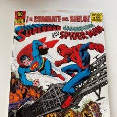Comics: SUPERMAN VS EL ASOMBROSO SPIDERMAN ¡EL COMBATE DEL SIGLO!. Lote 276745258