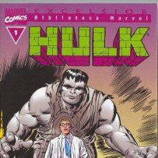 Cómics: BIBLIOTECA MARVEL . HULK Nº 1. Lote 26902029