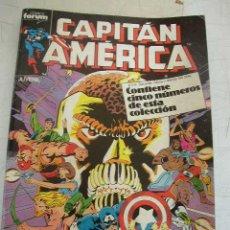 Cómics: CAPITÁN AMÉRICA, Nº. 36 AL 40.- CINCO COMICS RETAPADOS FORUM.- 1987-. Lote 21328059
