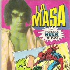 Cómics: LA MASA ***** EL INCREIBLE HULK DE LA SERIE DE TV NUM 1 1981 BRUGUERA **** MUY BUSCADO. Lote 16891192