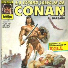 Cómics: LA ESPADA SALVAJE DE CONAN *** EL HONOR DE LOS BRIBONES **** NUM 92. Lote 7571423