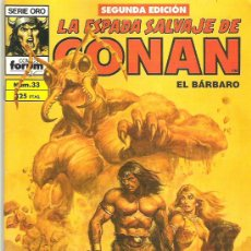 Cómics: LA ESPADA SALVAJE DE CONAN *** LOS HABITANTES DE LAS PROFUNDIDADES *** NUM 33. Lote 7572915