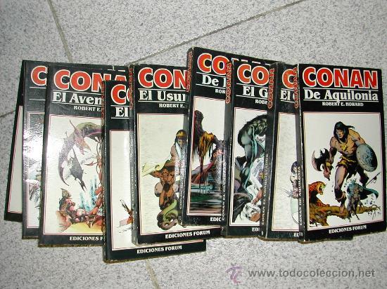 CONAN, LOTE DE 6 NOVELAS DE ROBERT E HOWARD. PRIMERA EDICION. LOTE O SUELTAS (Tebeos y Comics - Forum - Conan)