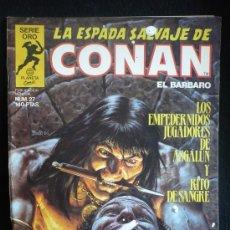 Cómics: LA ESPADA SALVAJE DE CONAN. LOS EMPEDERNIDOS SJUGADORES DE ASGALUN. N 27. Lote 8364353