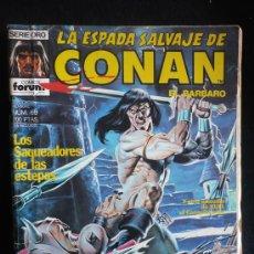 Cómics: LA ESPADA SALVAJE DE CONAN.LOS SAQUEADORES DE LAS ESTEPTAS. N 60. Lote 8364375