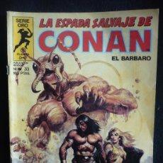 Cómics: LA ESPADA SALVAJE DE CONAN. LOS HABITANTES DE LAS PROFUNDIDADES. Nº33. Lote 8364408