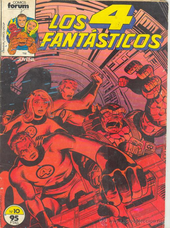 LOS 4 FANTASTICOS Nº 10 COMICS FORUM MARVEL COMICS GRUP LEVIATANES (Tebeos y Comics - Forum - 4 Fantásticos)