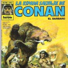 Cómics: LA ESPADA SALVAJE DE CONAN *** EL ESPIRITU DE LA BESTIA *** NUM 104. Lote 11706591