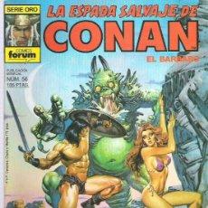 Cómics: LA ESPADA SALVAJE DE CONAN *** EL VALLE DE LAS SOMBRAS ULULANTES ¡¡¡ NUM 56. Lote 11709150