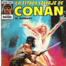Cómics: LA ESPADA SALVAJE DE CONAN *** EL JARDIN SANGRIENTO ** NUM 77 EXCEPCIONAL. Lote 11605592