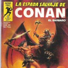 Cómics: LA ESPADA SALVAJE DE CONAN *** LA ARMADURA DE ZUULDA THAAL - NUM 34. Lote 11605594