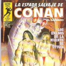 Cómics: LA ESPADA SALVAJE DE CONAN *** LOS ENANOS DE LA MUERTE DE STYGIA *** NUM 37 EX. Lote 9937785