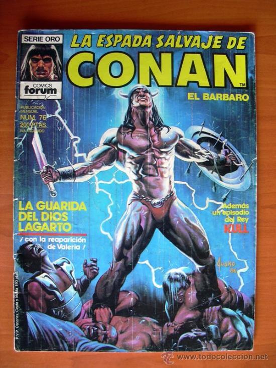 LA ESPADA SALVAJE DE CONAN, Nº 76 (Tebeos y Comics - Forum - Conan)