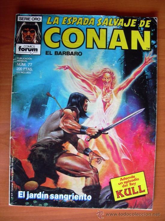 LA ESPADA SALVAJE DE CONAN, Nº 77 (Tebeos y Comics - Forum - Conan)