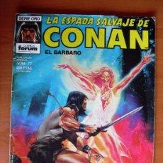 Cómics: LA ESPADA SALVAJE DE CONAN, Nº 77. Lote 10155523