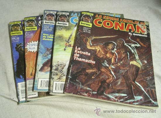 5 Nº CONAN EL BARBARO SERIE ORO Nº 58, 64, 96, 97, 100 Y 109 + RETAPADO DE 3 Nº ( 121, 122 Y 123) (Tebeos y Comics - Forum - Retapados)
