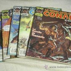 Cómics: 5 Nº CONAN EL BARBARO SERIE ORO Nº 58, 64, 96, 97, 100 Y 109 + RETAPADO DE 3 Nº ( 121, 122 Y 123). Lote 27396346