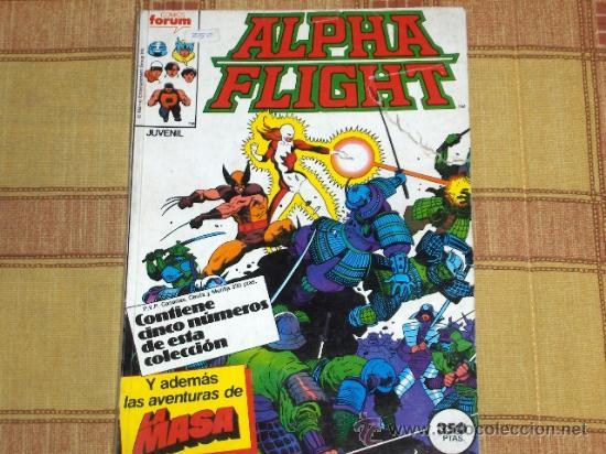 FORUM. RETAPADO ALPHA FLIGHT CON NÚMEROS 32 AL 35 CON LA PATRULLA X. 1987. 350 PTS. (Tebeos y Comics - Forum - Retapados)