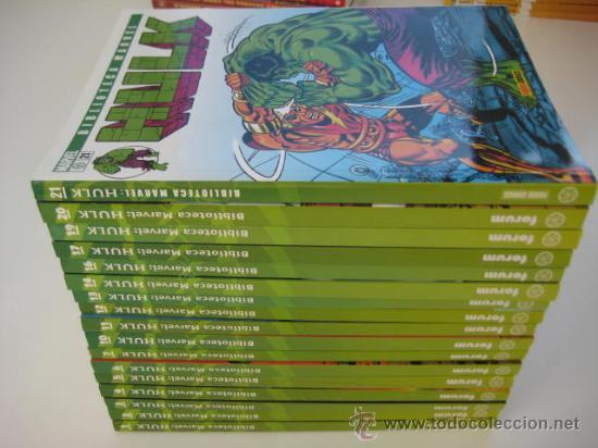 BIBLIOTECA MARVEL HULK FORUM 12 TOMOS NUEVOS (Tebeos y Comics - Forum - Prestiges y Tomos)