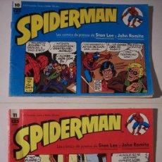 Cómics: SPIDERMAN (LOS COMICS DE PRENSA DE STAN LEE Y JOHN ROMITA) Nº 10 Y Nº 11. Lote 12172149
