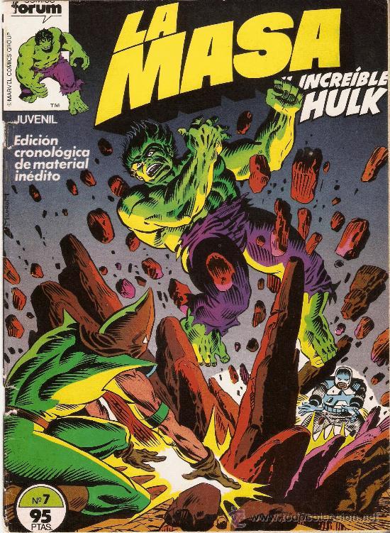 LA MASA - EL INCREIBLE HULK - VOL 1 - Nº 7 - DIBUJOS DE SAL BUSCEMA (Tebeos y Comics - Forum - Hulk)