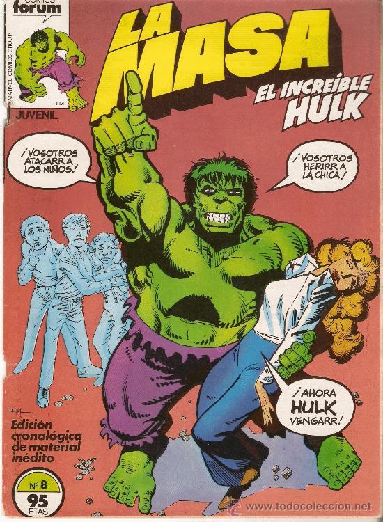 LA MASA - EL INCREIBLE HULK - VOL 1 - Nº 8 - DIBUJOS DE SAL BUSCEMA (Tebeos y Comics - Forum - Hulk)