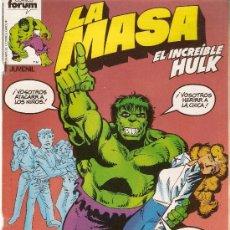 Cómics: LA MASA - EL INCREIBLE HULK - VOL 1 - Nº 8 - DIBUJOS DE SAL BUSCEMA. Lote 151681309