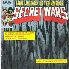 Cómics: SECRET WARS - LOS HEROES SERAN APLASTADOS ** Nº4 SERIE LIMITADA DE 12 NUMS 1992. Lote 13375497