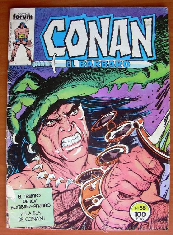 CONAN EL BARBARO Nº 58 - EDICIONES FORUM 1983 (Tebeos y Comics - Forum - Conan)