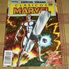 Cómics: FORUM VOL. 1 CLÁSICOS MARVEL ESPECIAL VERANO 1989 ESTELA PLATEADA SILVER SURFER. REGALO 5 NICK FURIA. Lote 13874613