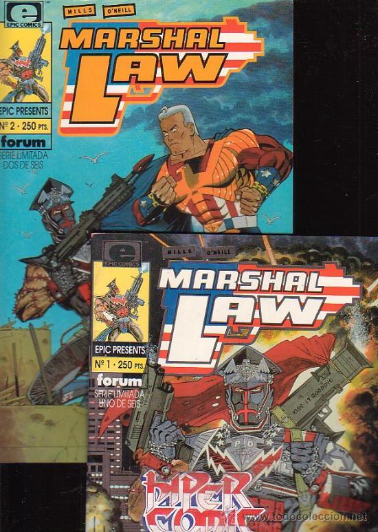MARSHAL LAW /POR: PAT MILLS & KEVIN O´NEIL Nº 1 Y 2 - EDITA : FORUM EN EPIC PRESENTS (Tebeos y Comics - Forum - Otros Forum)