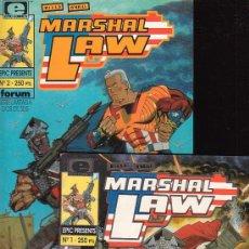 Cómics: MARSHAL LAW /POR: PAT MILLS & KEVIN O´NEIL Nº 1 Y 2 - EDITA : FORUM EN EPIC PRESENTS. Lote 14631868
