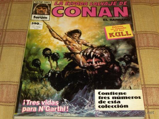 FORUM. RETAPADO Nº 10 LA ESPADA SALVAJE DE CONAN CON NºS 71-72-73. 590 PTS. MBE. (Tebeos y Comics - Forum - Retapados)