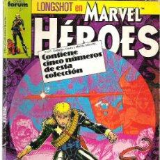 Cómics: LONGSHOT EN MARVEL HEROES - RETAPADO CONTINE 5 NUMEROS 1987. Lote 17486021