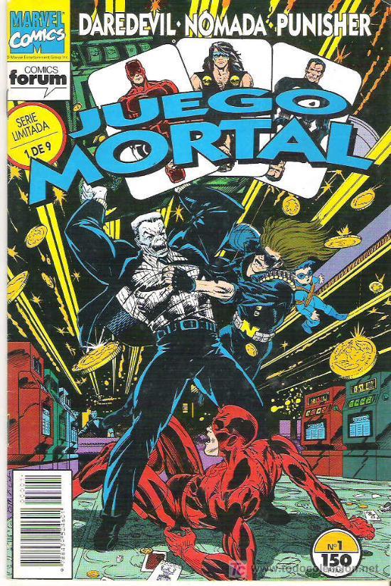 DAREDEVIL NOMADA Y PUNISHER - JUEGO MORTAL Nº 1 VOL 1 1992 (Tebeos y Comics - Forum - Daredevil)