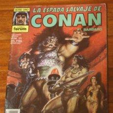 Cómics: LA ESPADA SALVAJE DE CONAN EL BARBARO Nº 111 PUBLICACION MENSUAL SERIE ORO.FORUM 1990. Lote 25983186