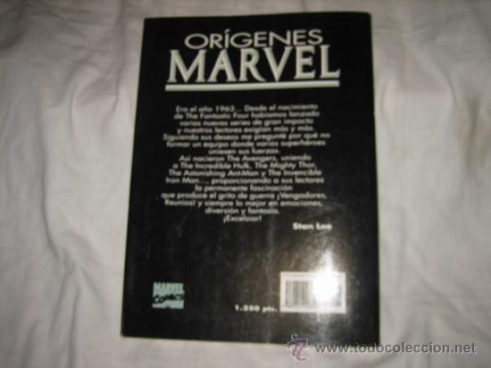 Cómics: ORIGENES MARVEL THE AVENGERS Nº 1-5 STAN LEE-JACK KIRBY - Foto 4 - 18335100