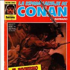 Cómics: CÓMIC-ESPADA SALVAJE DE CONAN EL BÁRBARO Nº 71-ED.FORUM 1ªED.. Lote 27705194