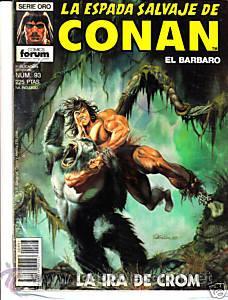 CÓMIC-ESPADA SALVAJE DE CONAN EL BÁRBARO Nº 93-ED.FORUM 1ªED. (Tebeos y Comics - Forum - Conan)