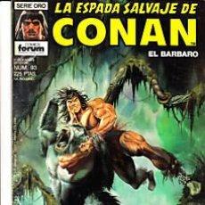 Cómics: CÓMIC-ESPADA SALVAJE DE CONAN EL BÁRBARO Nº 93-ED.FORUM 1ªED.. Lote 27361363