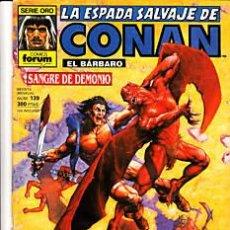 Cómics: CÓMIC-ESPADA SALVAJE DE CONAN EL BÁRBARO Nº139-ED.FORUM 1ªED.. Lote 27361361